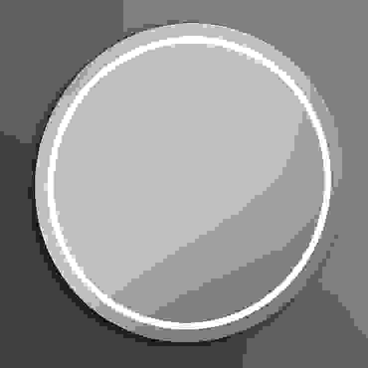IRIS LUZ LED PERIMETRAL ALTA INTENSIDAD 80 DIAMETRO Baños de estilo moderno de Xpertials SL Moderno Vidrio
