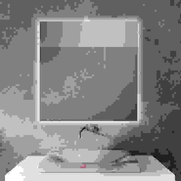 KHAN LISO - LUZ LED PERIMETRAL Baños de estilo moderno de Xpertials SL Moderno Vidrio
