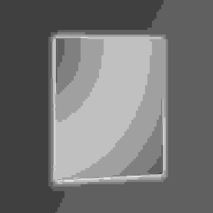 KHAN LISO - LUZ LED PERIMETRAL 60X80 Baños de estilo moderno de Xpertials SL Moderno Vidrio