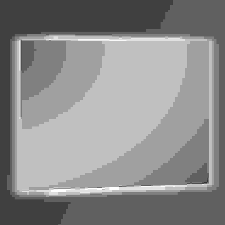KHAN LISO - LUZ LED PERIMETRAL 120x80 Baños de estilo moderno de Xpertials SL Moderno Vidrio