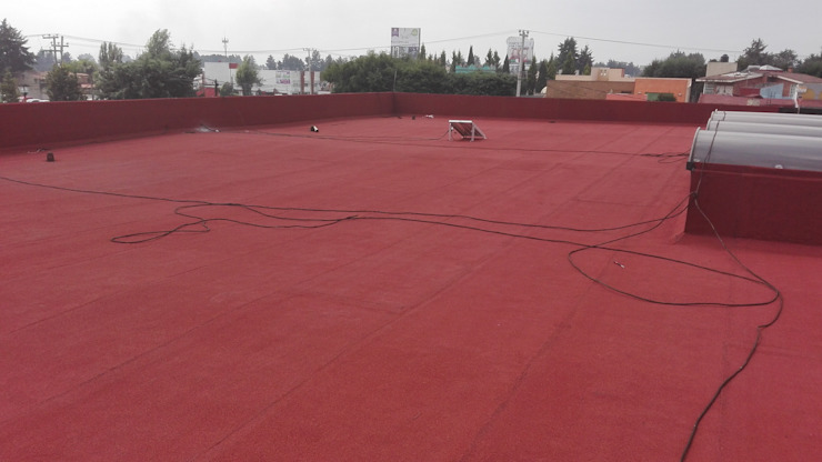 GRUPO MEVA CONSTRUCCION, S.A DE C.V. Roof terrace Concrete Red