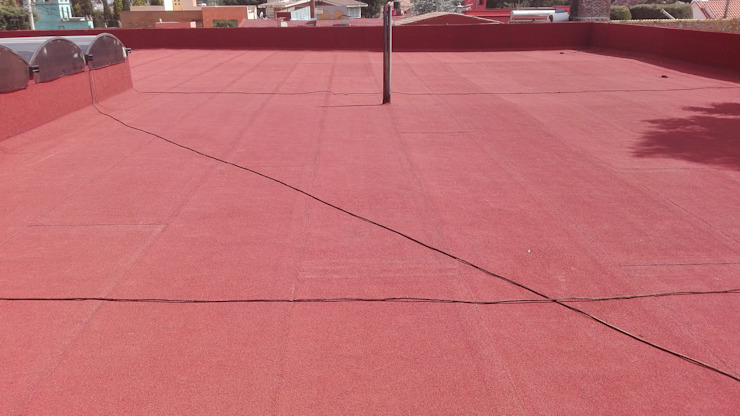 GRUPO MEVA CONSTRUCCION, S.A DE C.V. Roof terrace Concrete Brown