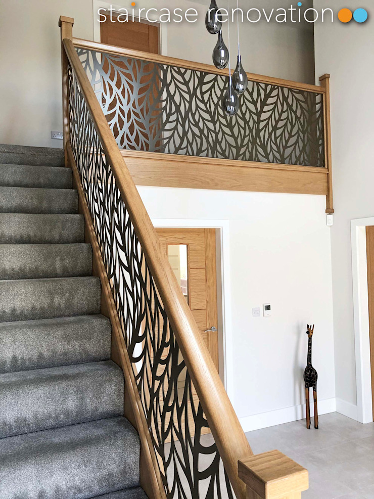 Laser cut balustrade infill Staircase Renovation Stairs