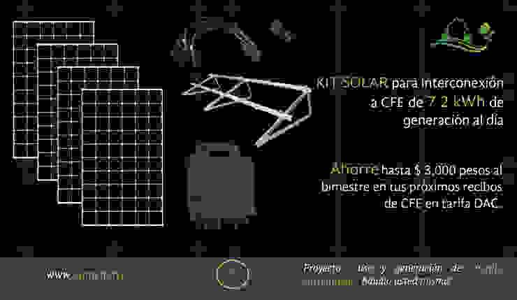 Kit solar para interconexión Vumen 4 paneles. Vumen mx Tejados