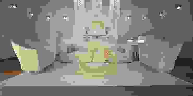 DABLEC di Tiziano Moletta Living roomSide tables & trays Glass Amber/Gold