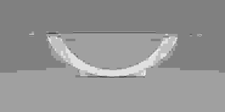 DABLEC di Tiziano Moletta Living roomSide tables & trays Glass White