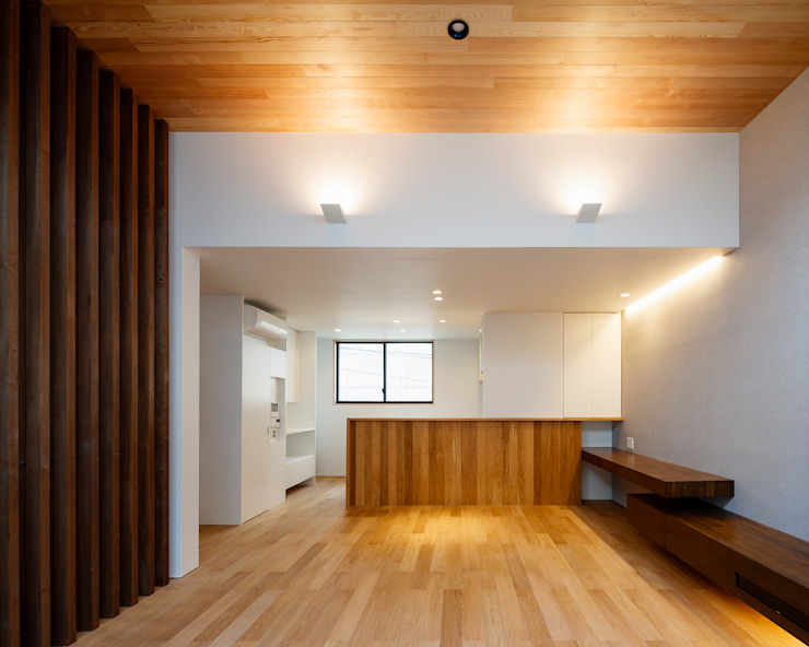 設計事務所アーキプレイス Livings de estilo moderno Madera Acabado en madera
