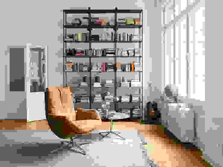 Cordia Lounge COR Sitzmöbel Helmut Lübke GmbH & Co. KG WohnzimmerSofas und Sessel Leder Bernstein/Gold