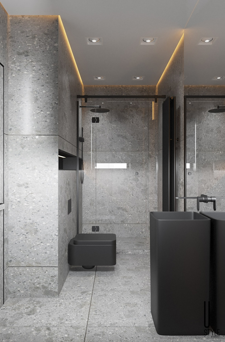 YOUSUPOVA Baños de estilo minimalista