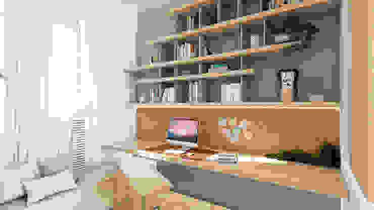 HOME OFFICE in Milan Letizia Alessandrini - Yacht & Interior Design Studio moderno Legno Turchese