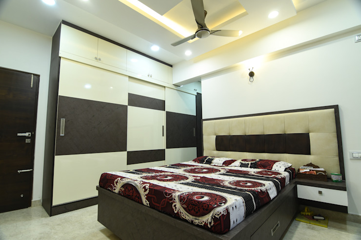 Kay Arr King Chordia Court Modern style bedroom by Magnon India Modern