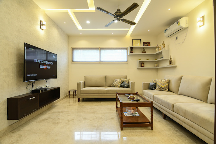10 Modern living room by Magnon India Modern