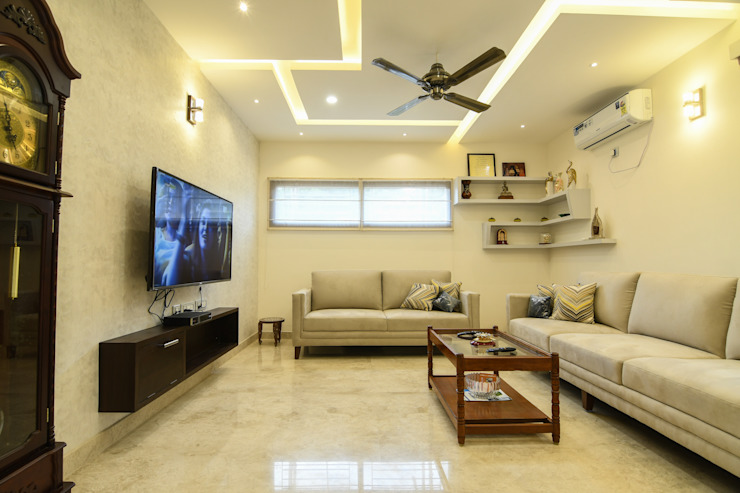 11 Modern living room by Magnon India Modern