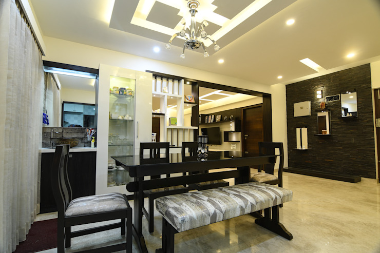 15 Modern dining room by Magnon India Modern