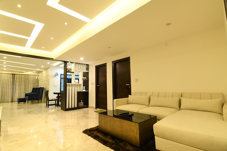 19 Modern living room by Magnon India Modern