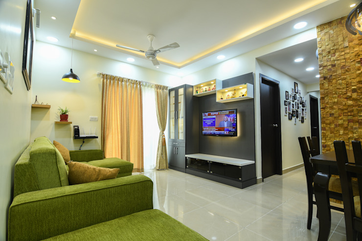 23 Modern living room by Magnon India Modern