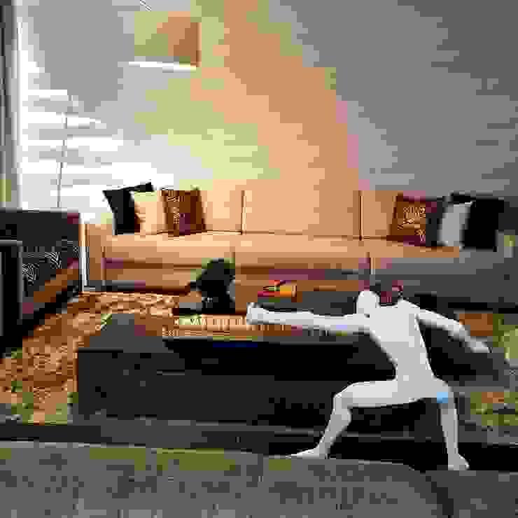 Sala de estar com muita personalidade Aadna.Design Salas de estar modernas