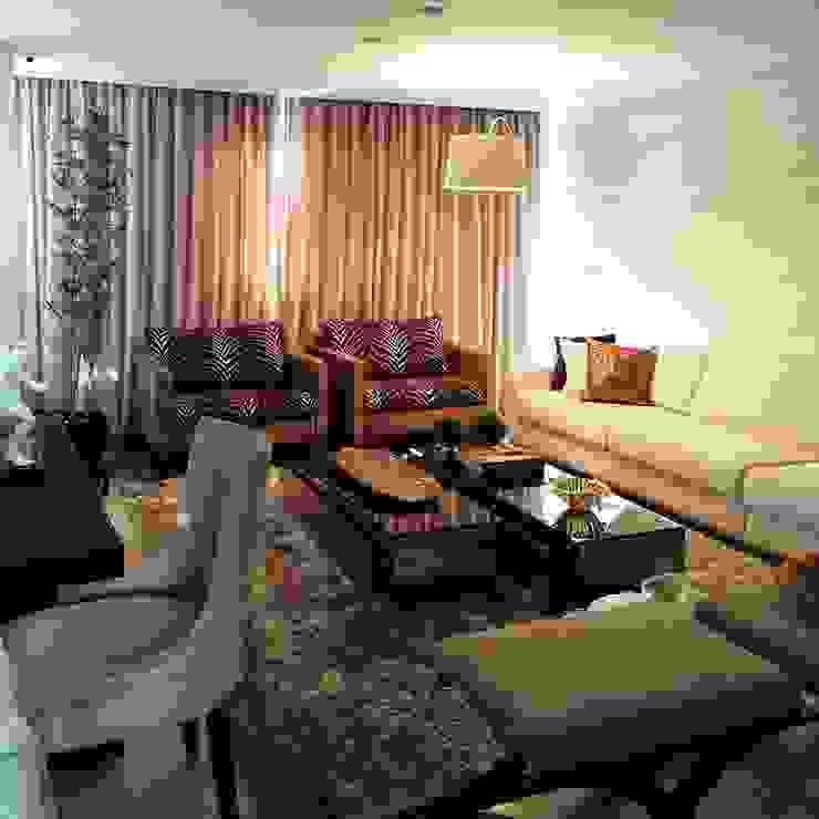 Sala de estar vista em outro ângulo Aadna.Design Salas de estar modernas