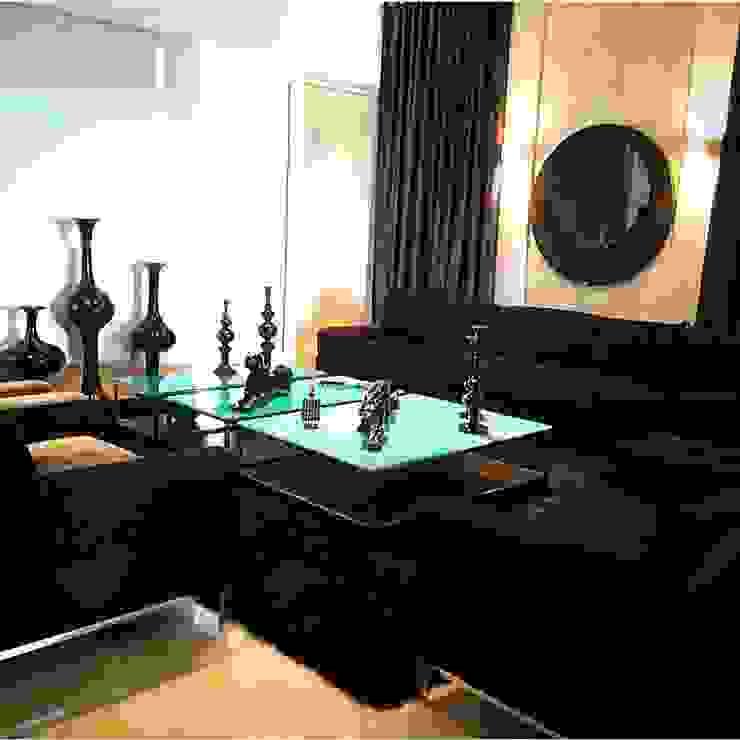 Outro ângulo da sala de estar turquesa Salas de estar modernas por Aadna.Design Moderno