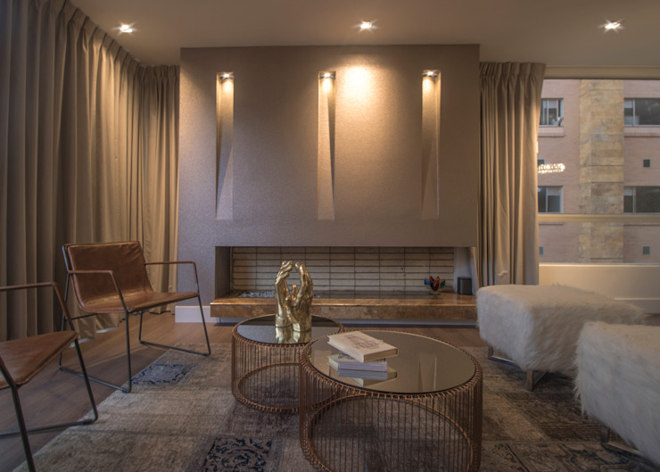Arquitecto Santiago Rodriguez Modern living room