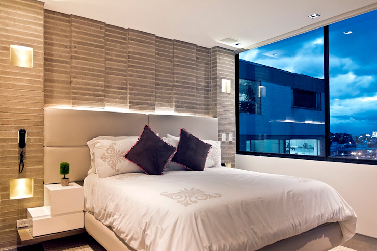 Apartamento 85 Bogota Arquitecto Santiago Rodriguez Salas de estilo minimalista