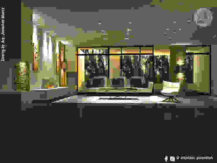 Diseño Interior, apto Katay. Salas modernas de ARQUINEX SAS Moderno Aglomerado