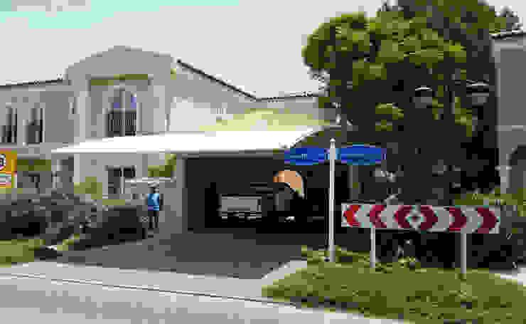 Car Parking Shades Dubai Al Fares International Tents Prefabricated Garage White