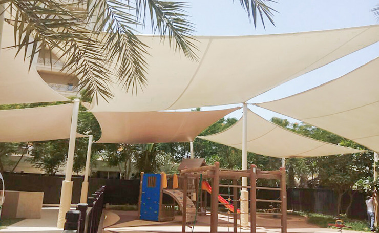 Tensile Fabric Structures UAE by Al Fares International Tents Modern Metal