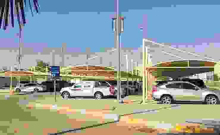 Car Parking Shades Dubai Al Fares International Tents Prefabricated Garage Metal Beige