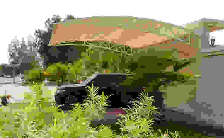 Car Parking Shade Dubai Al Fares International Tents Prefabricated Garage Metal Beige