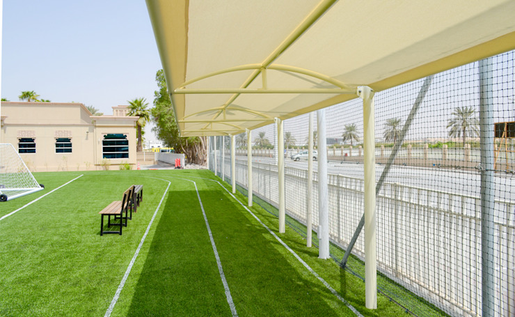 Tensile Shade Structures Dubai Al Fares International Tents Prefabricated Garage Metal White