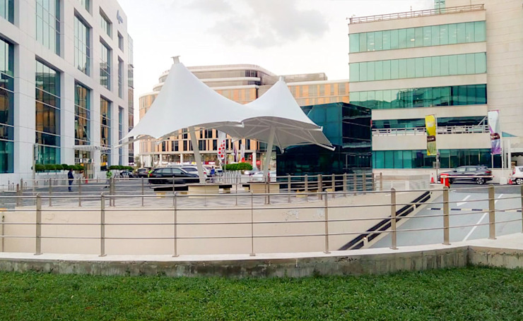 Tensile Fabric Structure Abu Dhabi by Al Fares International Tents Industrial Metal
