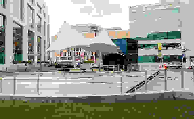 Tensile Fabric Structure Abu Dhabi Al Fares International Tents Prefabricated Garage Metal White