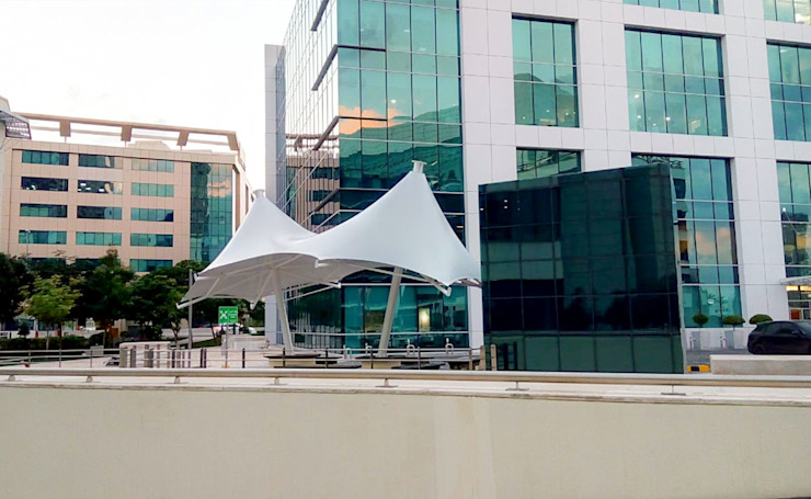 Tensile Fabric Structure Dubai by Al Fares International Tents Modern Metal
