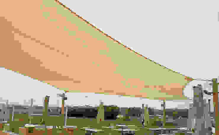 Tensile Fabric Structure Al Fares International Tents Prefabricated Garage Metal Beige