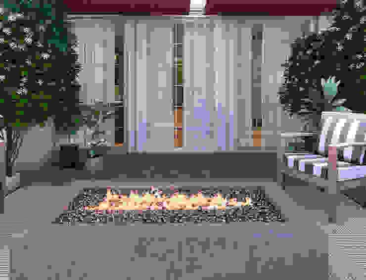 Nicoletta Russo Moderner Balkon, Veranda & Terrasse Fliesen Grau