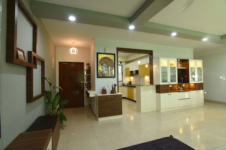 6 Modern corridor, hallway & stairs by Magnon India Modern