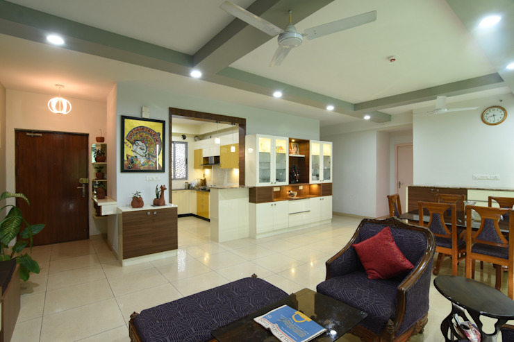 7 Modern living room by Magnon India Modern