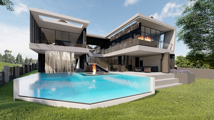 ULTRA MODERN RESIDENCE Modern houses by FRANCOIS MARAIS ARCHITECTS Modern