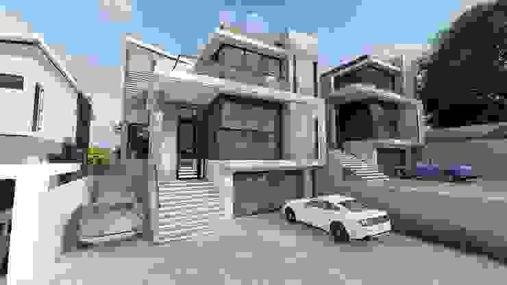 Ultra modern townhouse complex Modern houses by FRANCOIS MARAIS ARCHITECTS Modern