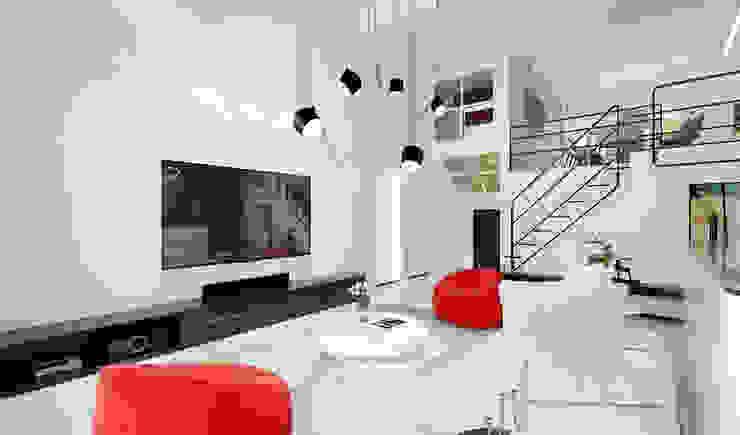 ED Design Limited Salones de estilo minimalista Blanco