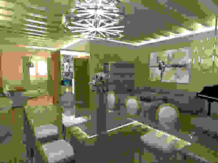 3D Comedor, salón, entrada, salita TV de Ana Cabo