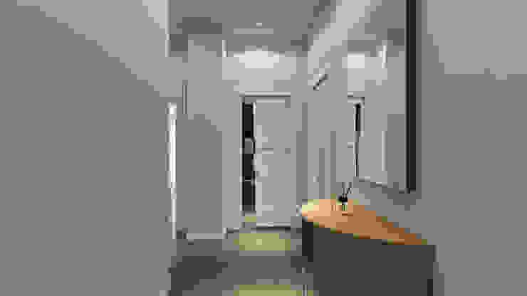 Corridoio Nicoletta Russo Ingresso, Corridoio & Scale in stile moderno Cemento Grigio