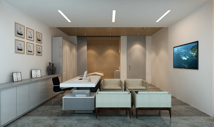 Modern Study Room and Home Office by Ayaz Ergin İç Mimarlık Modern