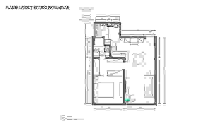 Planta de layout por Maria Claudia Faro Moderno