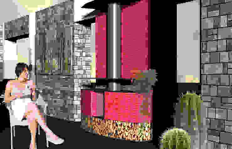 Fotia' Aetneas Design Sala da pranzo in stile mediterraneo