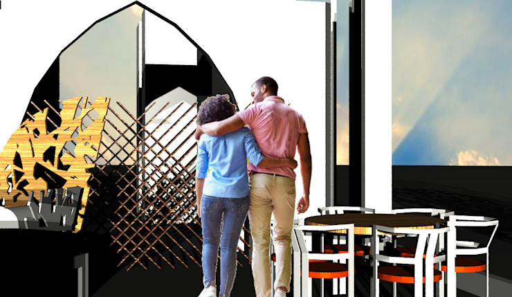 Casa Ideale Aetneas Design Sala da pranzo in stile mediterraneo