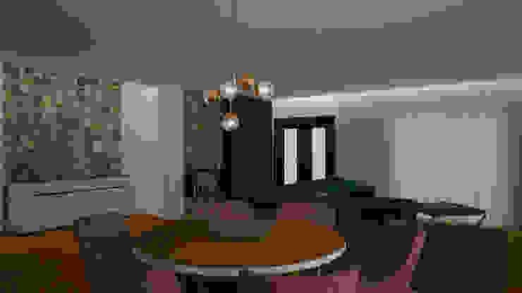 Projeto 3D - Sala de Jantar e de Estar por Versatilis Inovação Design