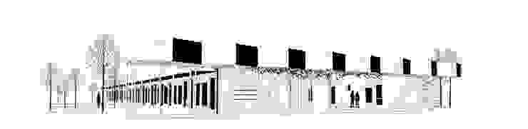 Fachada principal Ana Cabo Casas prefabricadas Aluminio/Cinc Blanco