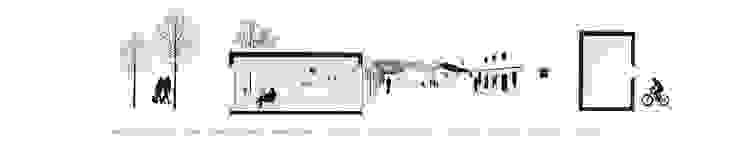 Sección en 3D Ana Cabo Casas prefabricadas Aluminio/Cinc Blanco